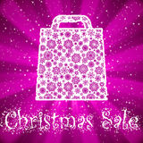 Bag For Shopping With snowflakes. EPS 8 Stock Images