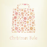 Bag For Shopping With snowflakes. EPS 8. Vector file included Royalty Free Stock Images