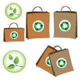 Bag with the sign of recycling. Royalty Free Stock Image