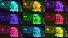 A bag of sour green plum and 20 turkish lira banknotes money,.  stock video footage