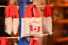 Bag souvenir. Popular souvenirs to bring from Canada Stock Photography