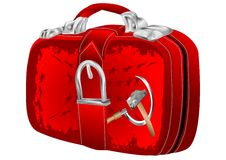 Bag with Soviet flag Stock Images
