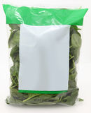Bag of Spinach Stock Images