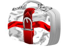 Bag with st george's flag Stock Photo