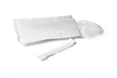 Bag of sugar. On the white isolated background Royalty Free Stock Photo