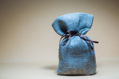 Bag with a surprise. Present Royalty Free Stock Photos