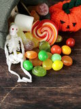 Bag with sweets and candy Royalty Free Stock Image