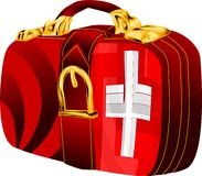 Bag with switzerland flag Stock Photography