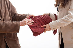 Bag taking Royalty Free Stock Images