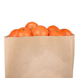 Bag of tangerine Royalty Free Stock Image