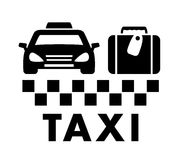 Bag and taxi car icon Stock Images