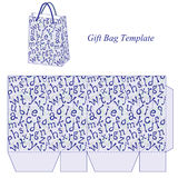 Bag template with alphabet pattern Royalty Free Stock Image
