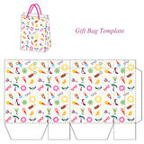 Bag template with seamless summer pattern Stock Photo