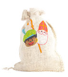 Bag with traditional Sint and Piet  isolated Stock Photography