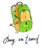 Bag in travel Royalty Free Stock Image