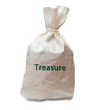 Bag with treasure Stock Images
