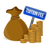 Bag with tuition fee Royalty Free Stock Photo
