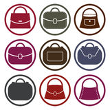 Bag vector icons set, fashion symbols collection. Stock Image