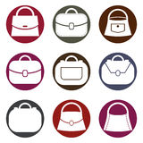Bag vector icons set, fashion symbols collection. Royalty Free Stock Images