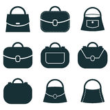 Bag vector icons set, symbols collection. Royalty Free Stock Images