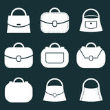 Bag vector icons set, symbols collection. Royalty Free Stock Photo