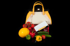 Bag with vegetables Royalty Free Stock Photography