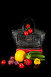 Bag with vegetables Stock Images