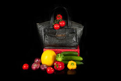 Bag with vegetables Stock Image
