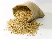 Bag of wheat Stock Photos