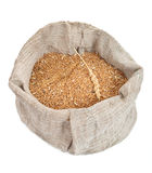 Bag with wheat grain Royalty Free Stock Photo