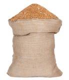 Bag with wheat grain stock photos