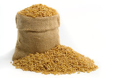 Bag With Wheat Royalty Free Stock Image