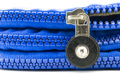 Bag zipper. Close up of bag zipper Stock Photography