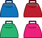 Bag with Zipper Colors Stock Photos