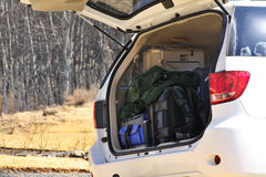 bagażu samochodowy bagażnik Zdjęcia Royalty Free
