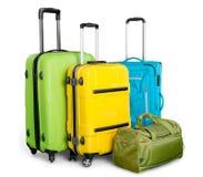 Bagażu składać się z wielcy walizka plecaki Fotografia Royalty Free