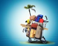 Bagaży turyści z dużymi walizkami zdjęcie royalty free