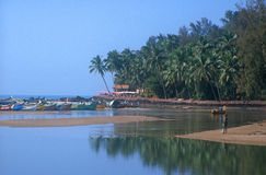 Baga beach in India Stock Photo