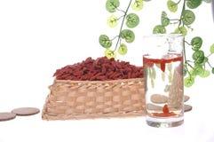 Baga de Goji ou wolfberry Fotografia de Stock Royalty Free