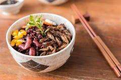 Baga do inseto e do arroz imagem de stock