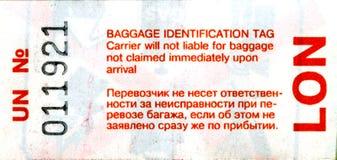 bagaż etykietka Zdjęcie Stock