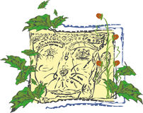Baga floral extravagante com uma cara ilustração stock