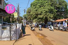 Baga gataplats royaltyfri foto