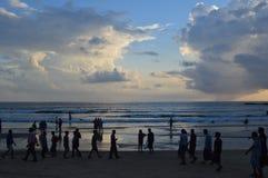Baga plaża, Goa zdjęcia royalty free