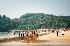 Baga plaża, Północny Goa, India Obraz Stock