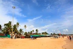 Baga strand Arkivbilder