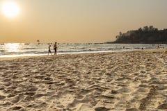 Baga strand Arkivfoton