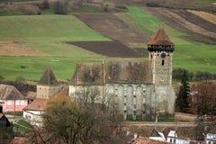 Bagaciu筑了堡垒于教会 免版税库存图片