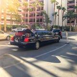 Bagage dans la limousine nevada LES Etats-Unis Le printemps 2015 photos stock