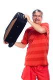 Bagage de fixation d'homme aîné Photos stock